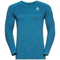 Men's SEAMLESS ELEMENT Long-Sleeve T-Shirt, mykonos blue melange, large