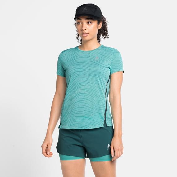 T-shirt da corsa ZEROWEIGHT ENGINEERED CHILL-TEC da donna, jaded melange, large