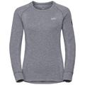 Women's HENRIETTE Long-Sleeve Base Layer Top, grey melange, large