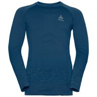 QUAGG seamless running pullover, blue opal - peacoat, large