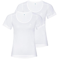ACTIVE CUBIC LIGHT Baserlayer T-Shirt im Doppelpack, white - snow white, large