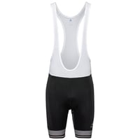 Men's ZEROWEIGHT Short Cycling Tights with Suspenders, black - white, large