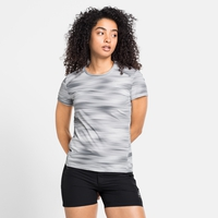 Damen FLI CHILL-TEC PRINT T-Shirt, odlo silver grey - graphic SS21, large