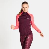 Women's ZEROWEIGHT WARM HYBRID Running Jacket, siesta - winetasting, large