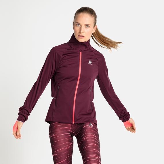 Women's ZEROWEIGHT PRO WARM Running Jacket, winetasting, large