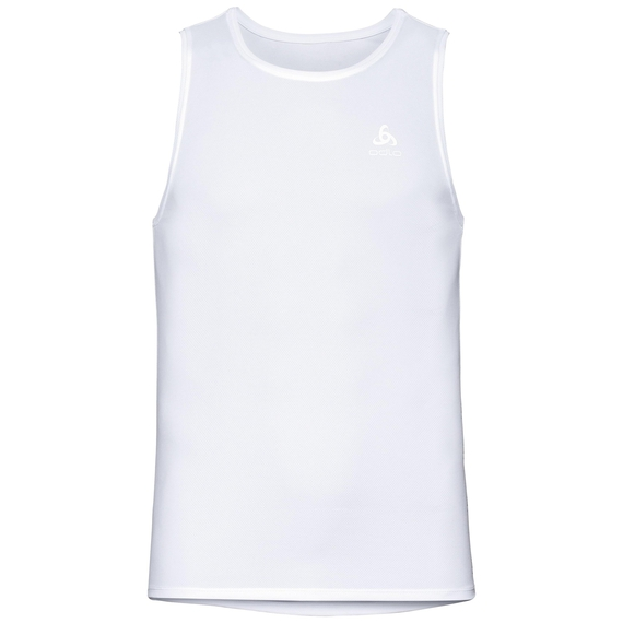 Men's ACTIVE F-DRY LIGHT Base Layer Singlet, white, large