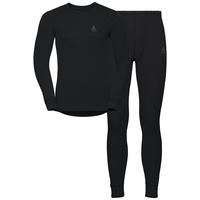 Men's ACTIVE WARM Long Sleeve Base Layer Set, black, large
