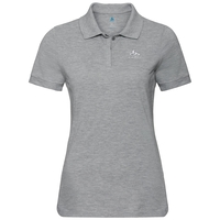 Women's NEW TRIM Polo Shirt, grey melange, large