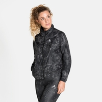 Women's ZEROWEIGHT AOP Running Jacket, black - graphic FW20, large
