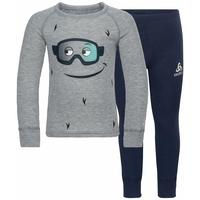 Set ACTIVE WARM ECO TREND KIDS, diving navy - grey melange - graphic FW20, large