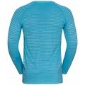 NAADLOOS ESSENTIAL-hardloop-T-shirt met lange mouwen voor heren, horizon blue melange, large