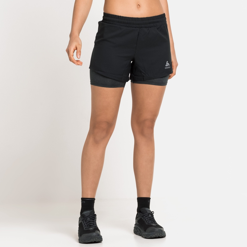 Women's RUN EASY 5 INCH 2-in-1 Shorts, black, large