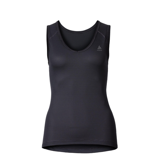CUBIC Unterhemd mit V-Ausschnitt, ebony grey - black, large