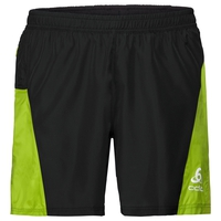 Pantaloncini con slip interno OMNIUS LIGHT, black - acid lime, large