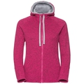 Hoody midlayer full zip Sherpa Hoody, beetroot purple melange, large