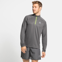 Men's ESSENTIAL Half-Zip Running Midlayer, odlo steel grey, large