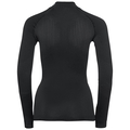 Maglia Base Layer a manica lunga CERAMIWARM da donna, black, large