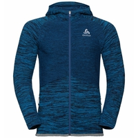 Men's MILLENNIUM PRO Running Jacket, estate blue - blue aster - black, large