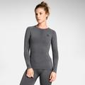 Damen PERFORMANCE WARM Funktionsunterwäsche Langarm-Shirt, grey melange - black, large