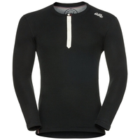 Shirt l/s crew neck IVAR WARM, black, large