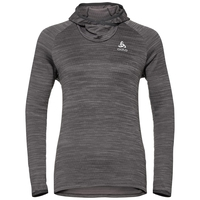 Sweat à capuche MILLENNIUM ELEMENT pour femme, odlo graphite grey melange, large
