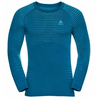 Men's PERFORMANCE LIGHT Long-Sleeve Base Layer Top, mykonos blue - horizon blue, large