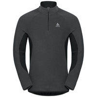 Men's ROYALE 1/2 Zip Midlayer, shale grey - black stripes, large