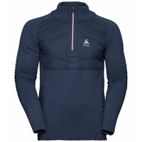 Men's X-POD FAN 1/2 Zip Midlayer, diving navy - formula one, large