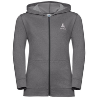 Hoody midlayer full zip ALAGNA KIDS, odlo graphite grey melange, large