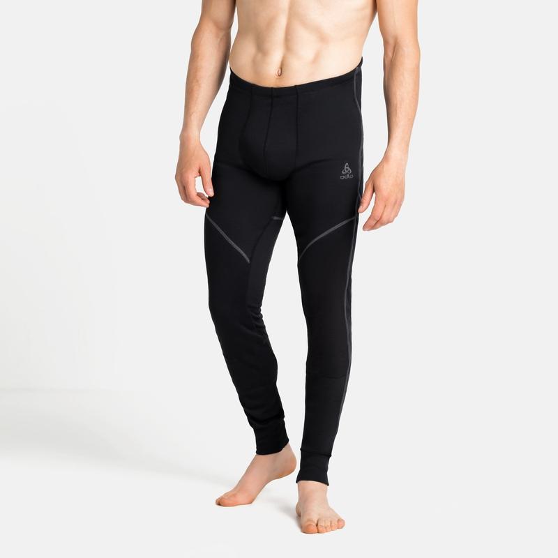 Men's ACTIVE X-WARM ECO Base Layer Bottoms, black, large
