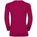 Shirt l/s crew neck GOD JUL PRINT, sangria, large