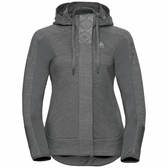 Midlayer full zip SKADI X-WARM, grey melange, large
