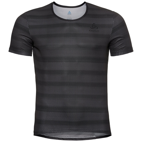 Maglia Base Layer da ciclismo ZEROWEIGHT da uomo, odlo graphite grey - black, large