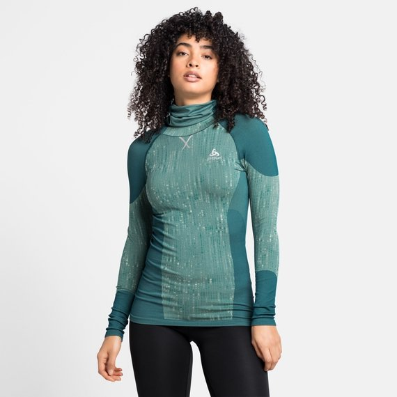 Damen BLACKCOMB Baselayer-Top mit Kapuze, submerged, large