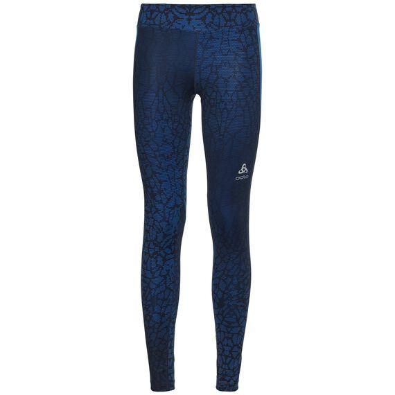 BL Bottom OMNIUS Print lange Hose, diving navy - energy blue, large