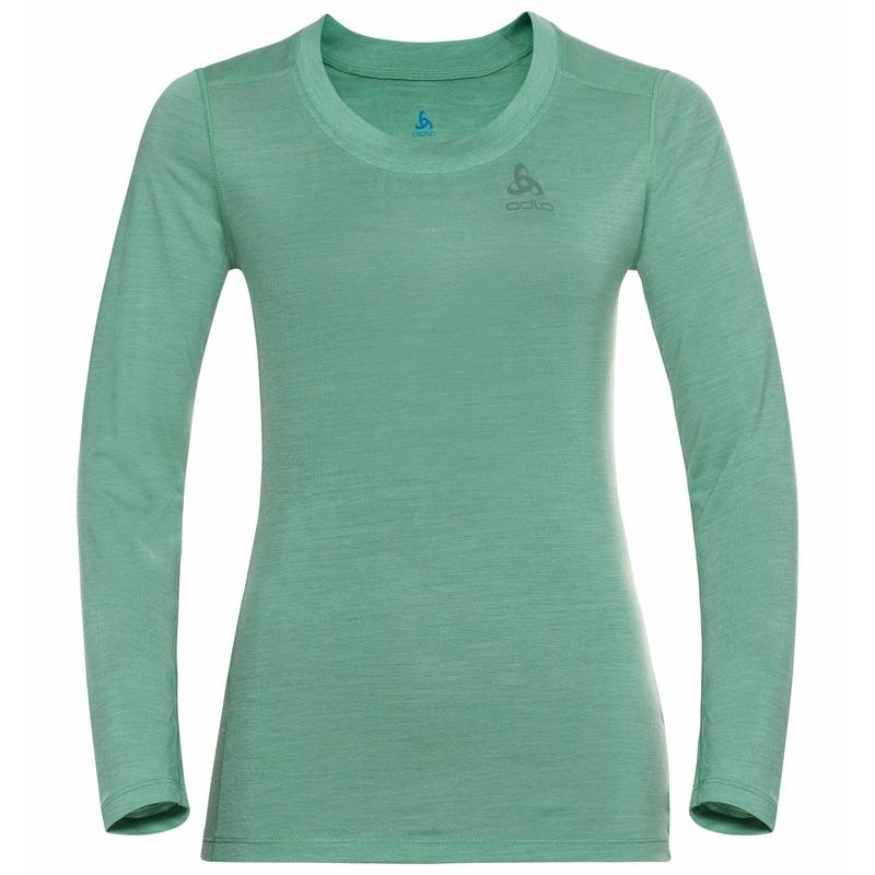 Women's NATURAL + LIGHT Long-Sleeve Base Layer Top, creme de menthe, large