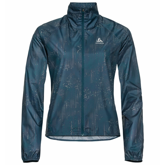 Veste de running femme Zeroweight AOP, submerged - graphic FW20, large