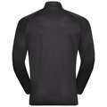 Midlayer FLI, black - odlo graphite grey - stripes, large