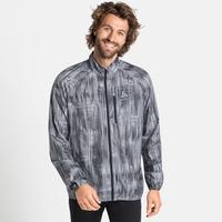 Men's ZEROWEIGHT AOP Running Jacket, odlo steel grey - graphic FW20, large