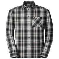 Shirt l/s LOGGER, odlo silver grey - black check, large