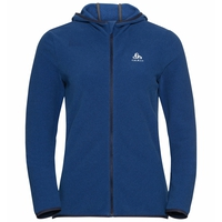 Women's ROY Full-Zip Midlayer Hoody, diving navy - blue tattoo - stripes, large