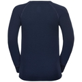 ACTIVE WARM TREND KIDS (BIG) Long-Sleeve Base Layer Top, diving navy - placed print FW18, large