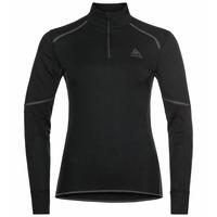 Women's ACTIVE X-WARM ECO Half-Zip Turtleneck Baselayer Top, black, large