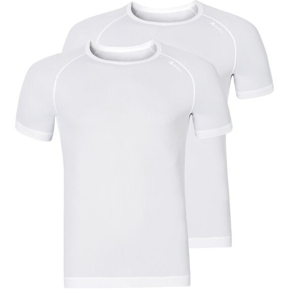 SUW TOP Crew neck s/s ACTIVE CUBIC LIGHT 2 Pack ST, white - snow white, large