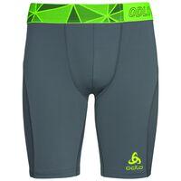 Ceramicool pro Shorts men, odlo steel grey - safety yellow, large