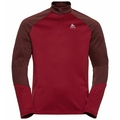 Men's PLANCHES 1/2 Zip Midlayer, andorra - rio red, large