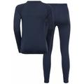 Ensemble de sous-vêtements techniques NATURAL 100% MERINO  WARM pour enfant, diving navy - diving navy, large