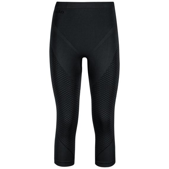 EVOLUTION WARM 3/4 baselayer pants, black - odlo graphite grey, large