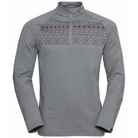 Men's PAZOLA RIBBON Half-Zip Midlayer Top, grey melange, large