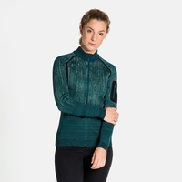 Top midlayer con zip intera BLACKCOMB da donna, submerged - malachite green, large